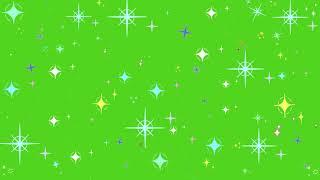 Футаж Мигающие звезды Футажи Хромакей Green Screen ФутаЖОР