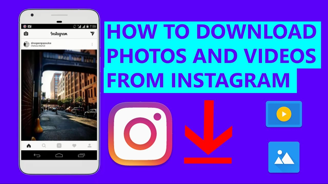 How to pictures instagram download from