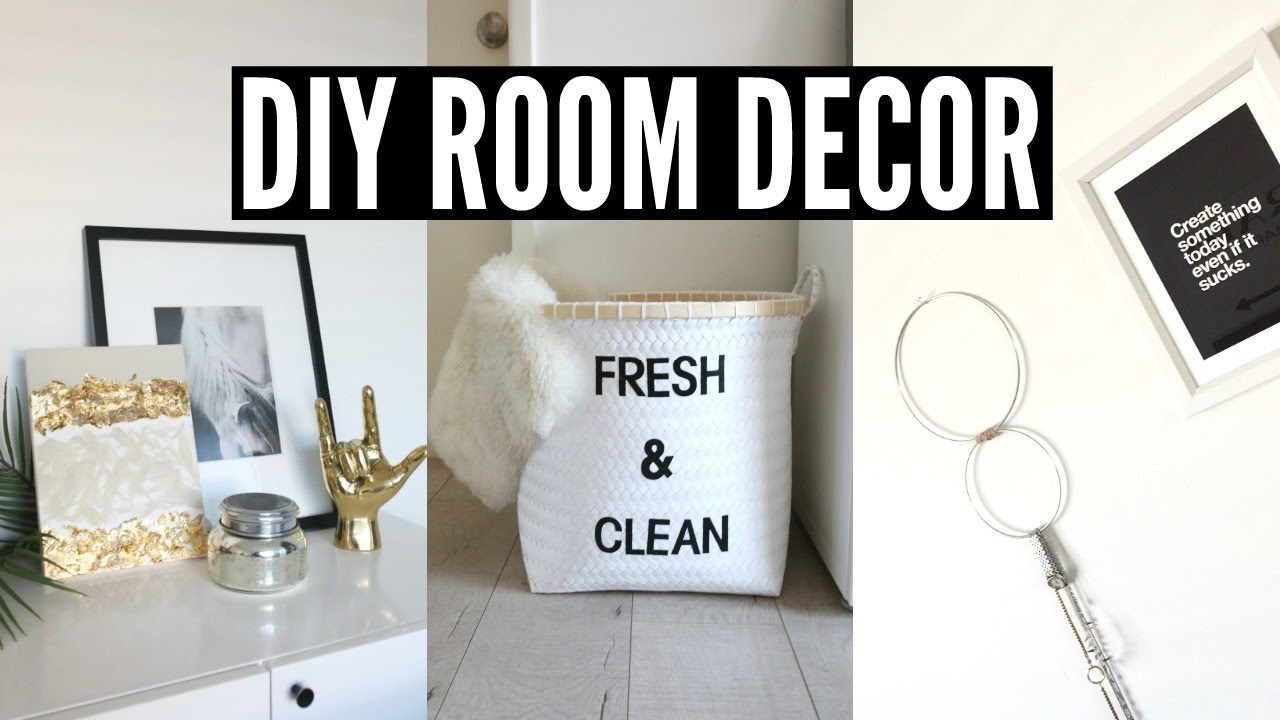 Diy tumblr room decor simple minimal youtube for Room decoration products