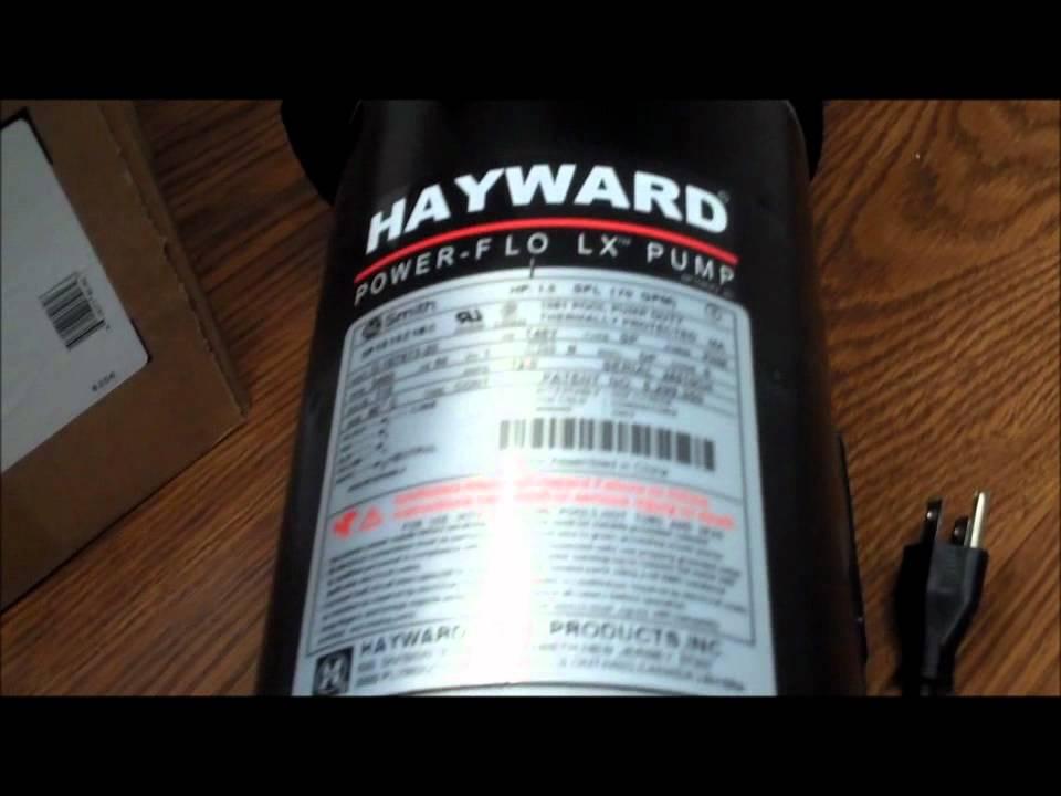 POOLCENTER Hayward Power-Flo LX pool pump Box Tour - YouTube