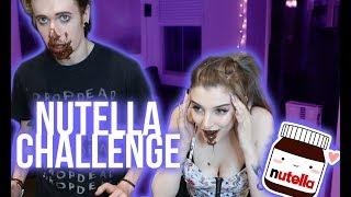 NO HANDS NUTELLA CHALLENGE | Alex Dorame