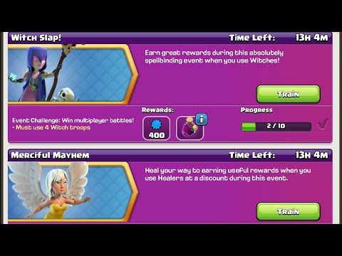 Merciful Mayhem & Witch Slap Event (2 in 1) Troop Composition for Th8, 9, 10, 11 | Clash of Clans