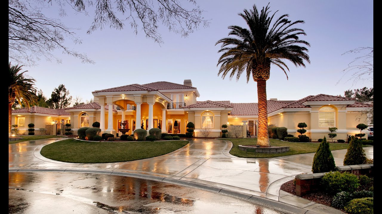 Luxury Mediterranean House 7600 Silver Meadow Court A Mediterranean Luxury Estate In Las Vegas