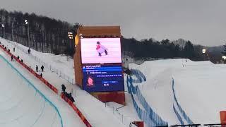 2018 PyeongChang Olympic Snowboard Halfpipe Final Run 1-Ayumu HIRANO at Phoenix Snowpark
