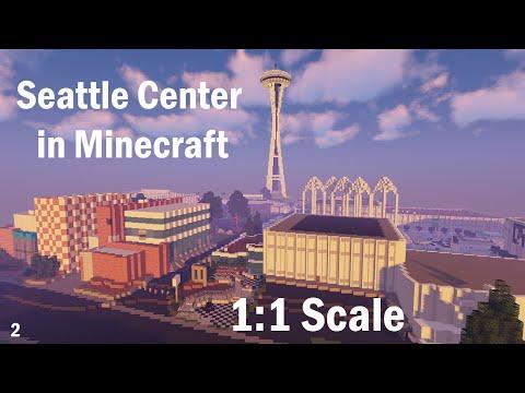 Seattle Center 1:1 In Minecraft | PNW BTE