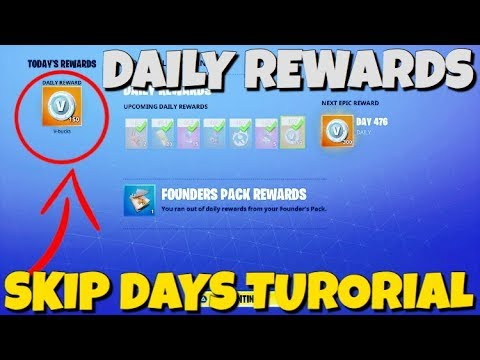 """How To Skip Days On The """"DAILY REWARDS"""" Quick Vbucks !! Fortnite Save The World"""