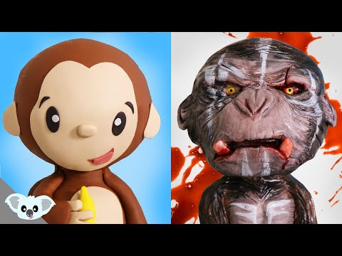 Cute and Scary Monkey Cake |  2 Faced Animal Cake Ideas | Amazing Cakes | Koalipops
