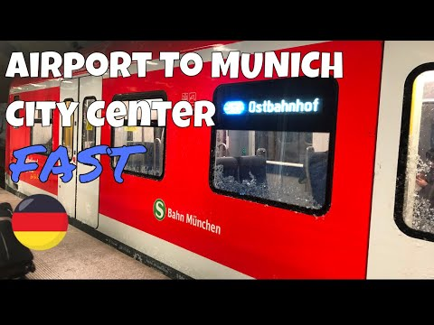 MUNICH Airport To City Center By Train - Fast S-BANH 2019