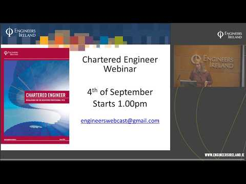 Applying for the Chartered Engineer title - 4th September 2017