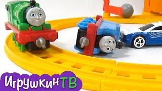 Паровозик Томас и его Друзья мультик из игрушек. Набор гоночная трасса Томаса и Перси