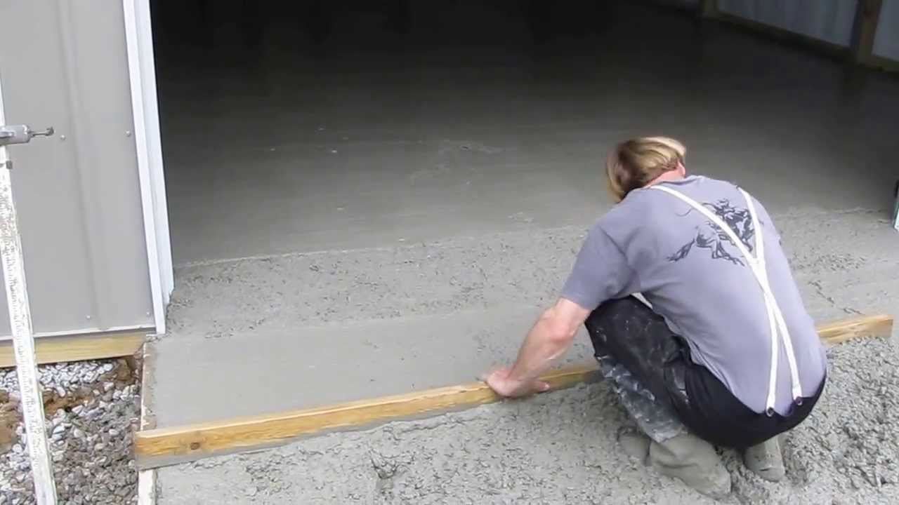 Pouring Concrete In An Existing Pole Barn : Cha pole barns concrete time part by kvusmc youtube