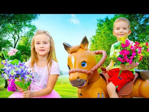 Артур едет на Коне Игрушке к друзьям на Вечеринку Неожиданный Подарок от Джинна Говорящий Конь