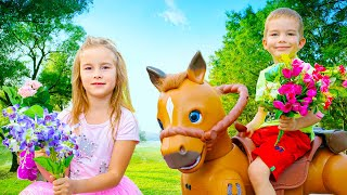 Gift from Genie Talking Hors Toy Arthur ride on hors to the Party with Friends