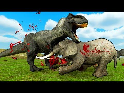 Мультфильм про слонов и динозавров
