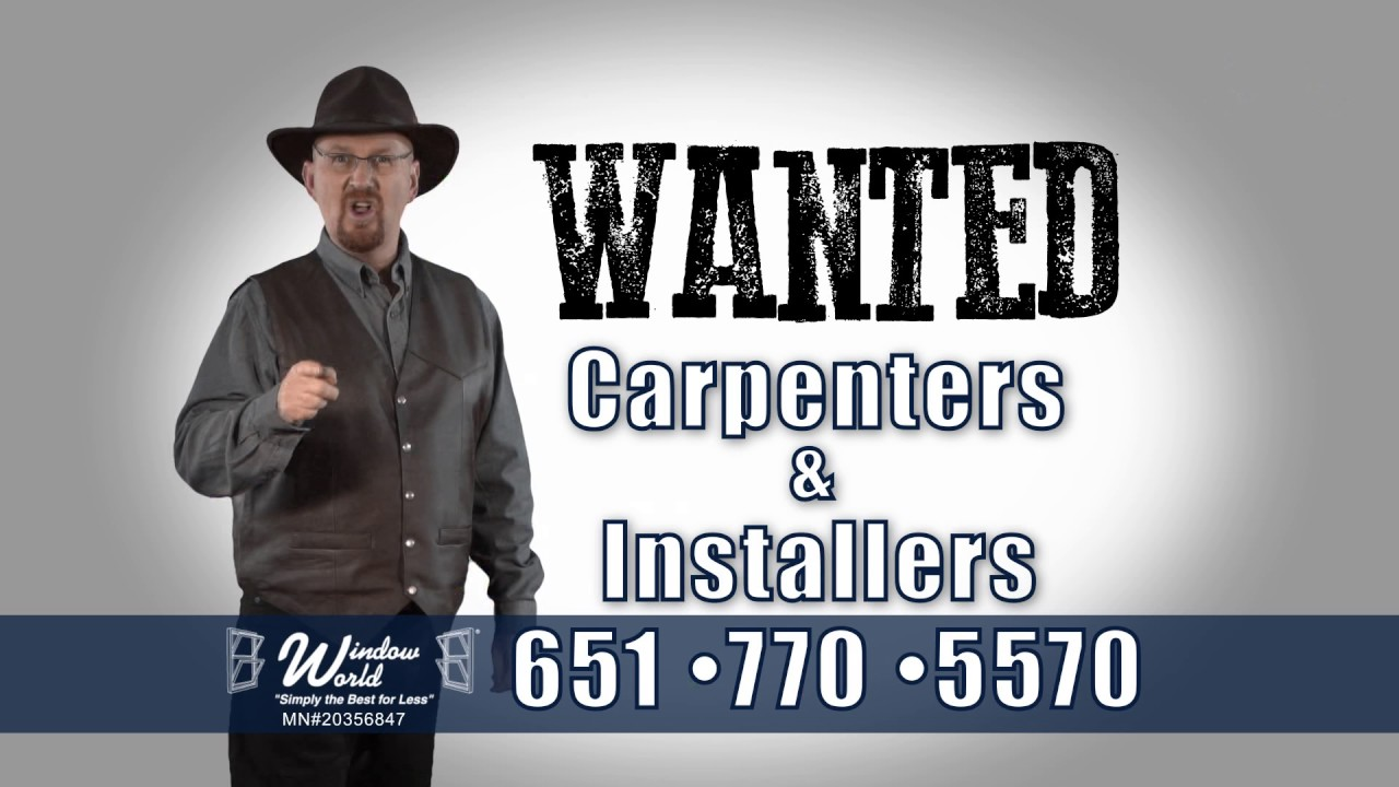 window world mn wanted carpenters window installers world mn youtube