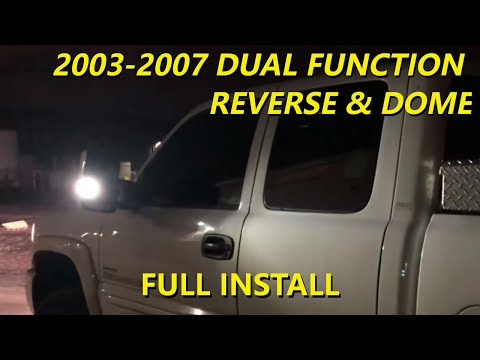 Reverse  Dome Lamp Dual Function 2003-2007 GM Tow Mirrors - YouTube
