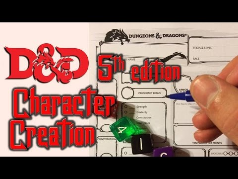 Dungeons & Dragons 5E -  Character Creation for Beginners (Fighter)