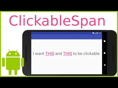 How to Make Parts of a TextView Clickable - Android Studio Tutorial