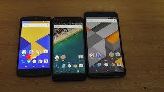 Nexus 6 vs 5X vs 5 - Android 6.0.1 Marshmallow Speed Test (4K)
