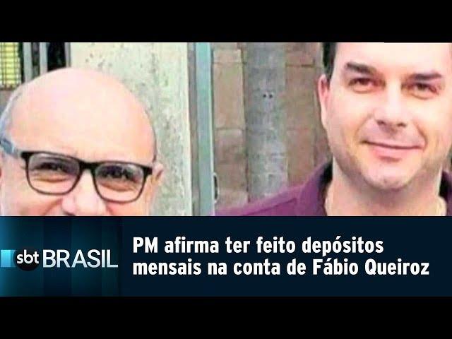 PM afirma ter feito depósitos mensais na conta de Fábio Queiroz   SBT Brasil (22/02/19)