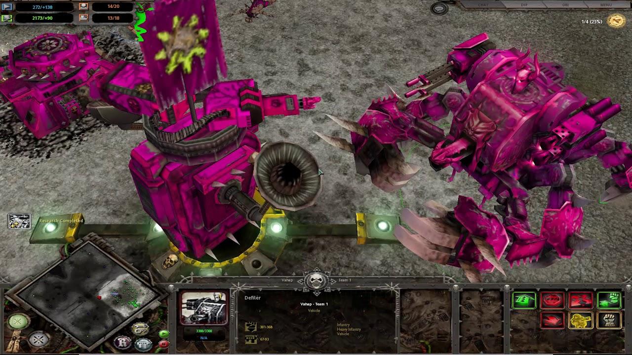 CHAOS DEFEAT- Warhammer: 40,000 Dawn of War: Dark Crusade 4x İnsane Eldar Enemy
