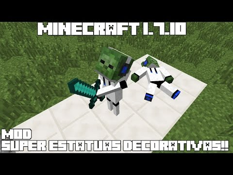 Minecraft 1.7.10 MOD SUPER ESTATUAS DECORATIVAS! Model Citizens Mod Review Español!