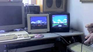 Amiga 500 & ATARI 520ST+ Lotus Esprit Turbo Challenge 2 RS-232 Multiplayer