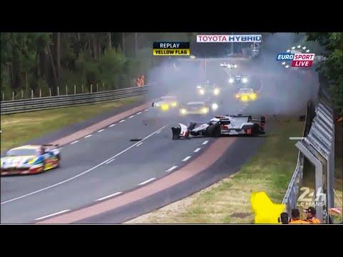 Loïc Duval Audi R18 Crash LeMans 24h 2015