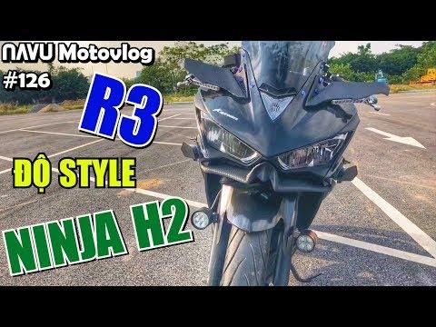Soi Hàng R3 độ Theo Phong Cách Ninja H2, Bình Xăng Lớn, Lốp To Như Sport 1000cc | Motovlog 126