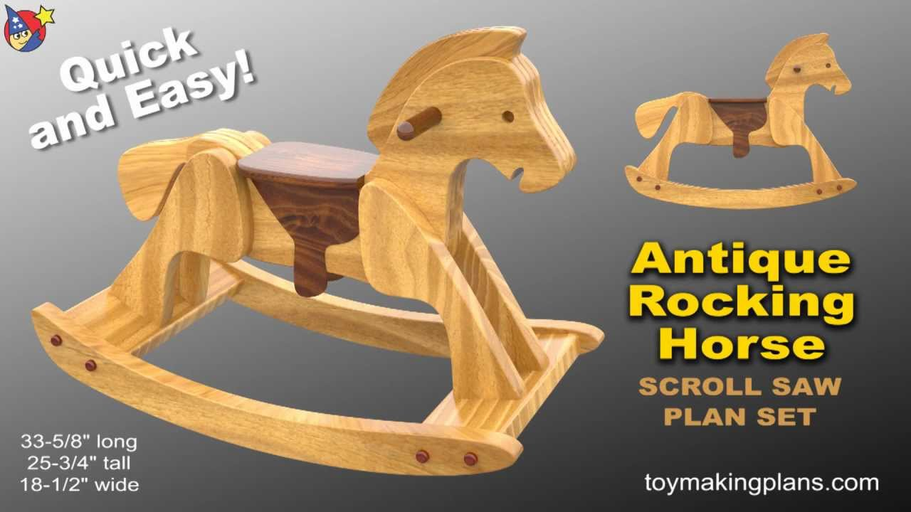 wood toy plans - heirloom rocking horse