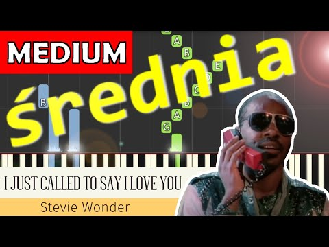 🎹 I Just Called To Say I Love You (Stevie Wonder) - Piano Tutorial (średnia wersja) 🎹