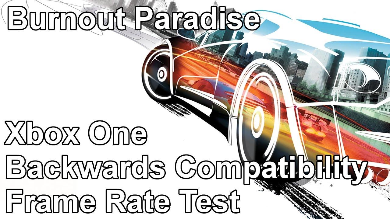 Burnout Paradise Xbox 360 vs Xbox One Backwards Compatibility Frame ...
