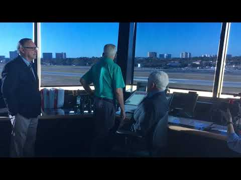 The Air Traffic Control Tower at the Destin Executive Airport is in Operation