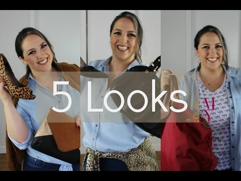 PLUS SIZE com ESTILO! 5 looks com camisa e calça jeans.