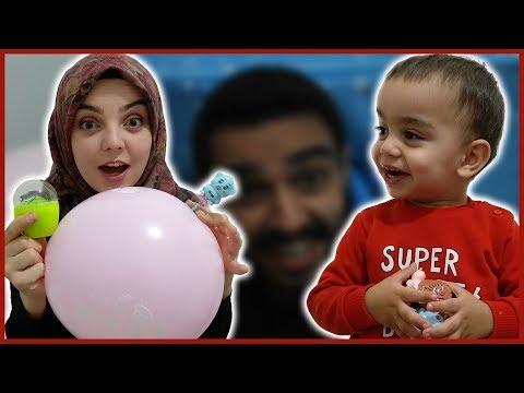 Babası Yağıza Balonlu Çok Eğlenceli Bir Sürpriz Yaptı Eğlenceli Çocuk Videosu YED SHOW