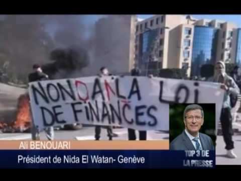 Ali BENOUARI au régime algérien : votre ennemi c'est votre politique !