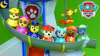 Paw Patrol Weebles Lookout Tower Playset Toys Animal Rescue Episode Funny Toy Story Video for Kids