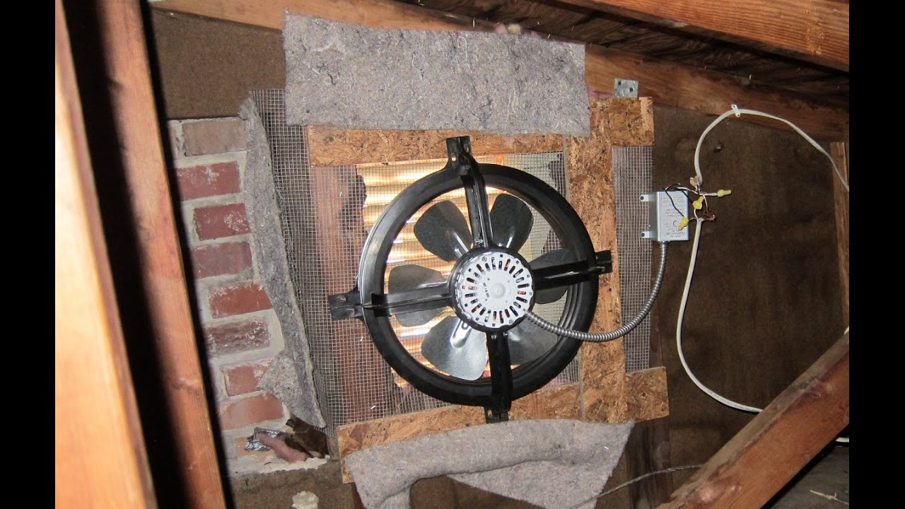 attic exhaust fan install [ 1280 x 720 Pixel ]