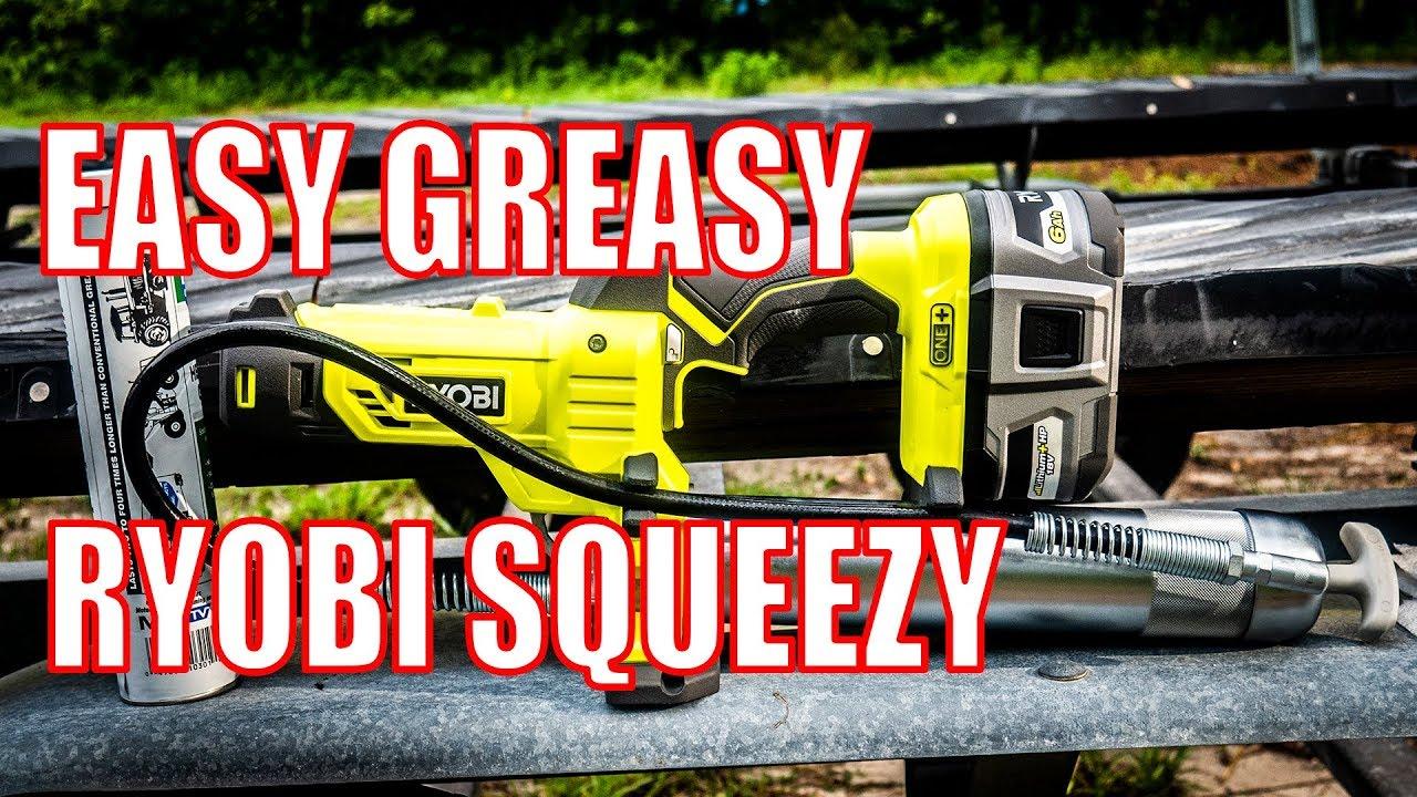 Ryobi P3410 Grease Gun 18V One+ Video Review | Shop Tool Reviews