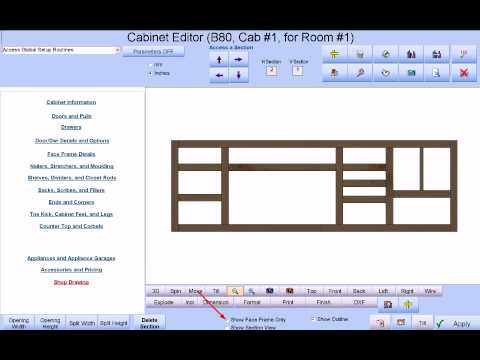 Cabinet Pro Software: Making A Long Custom Cabinet That Includes CNC Router  Support.