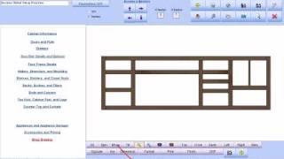 Software For Custom Cabinetry: Making A Long Custom Cabinet That Includes Cnc Router Support.