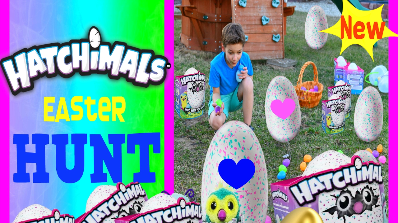 Hatchimals Giant Easter Egg Hunt Dream Colleggtible Hatchimals Kid And Surprise Eggs Video For Kids Youtube