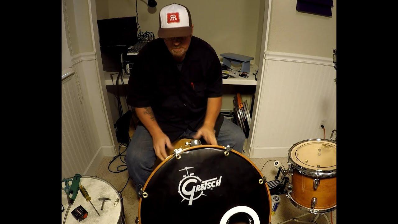 diy bass drum logo cover youtube. Black Bedroom Furniture Sets. Home Design Ideas