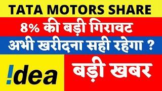 8% की बड़ी गिरावट ! TATA MOTORS SHARE PRICE TODAY   BUY SELL OR HOLD? TATA MOTORS SHARE LATEST NEWS