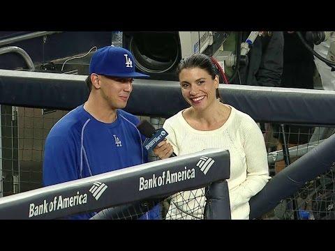 LAD@NYY: De Leon on pitching at Yankee Stadium