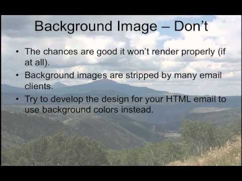 Using Images in Emails