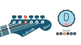 e-chords guitar tuner -  drop d tuning - d a d g b e