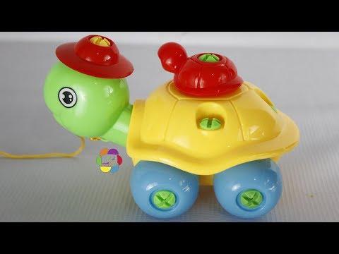 لعبة فك وتركيب السلحفاة للاولاد والبنات والعاب البازل للاطفال turtle puzzle game toy