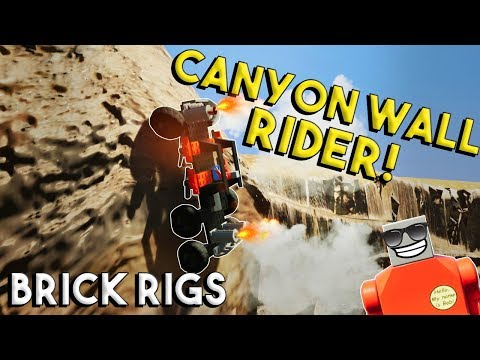 MULTIPLAYER WALL CRAWLER CANYON RACE CHALLENGE! - Brick Rigs Multiplayer Build Challenge