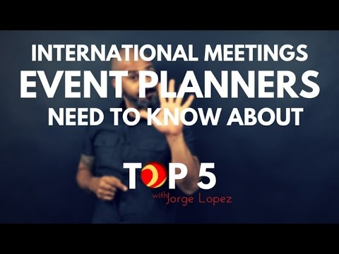 //TOP5//ᴴᴰ International Meetings Event Planners Need to Know About